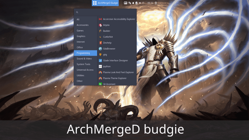 All tutorials on ArchMergeD Budgie have been created