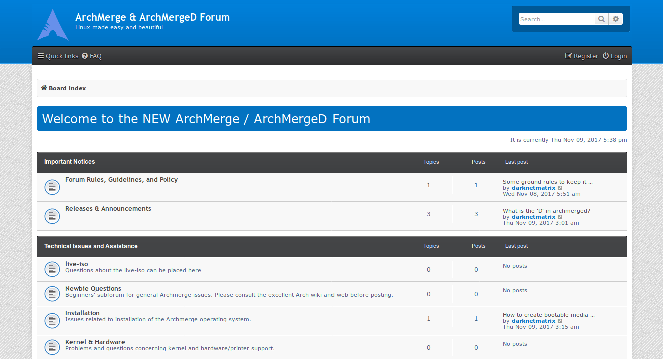 Let us move to the new forum @ archmergeforum.com