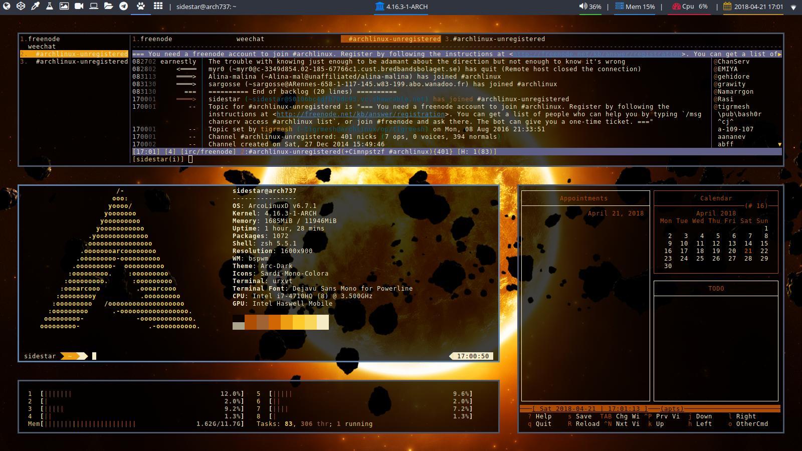 ArcoLinuxD 6.7
