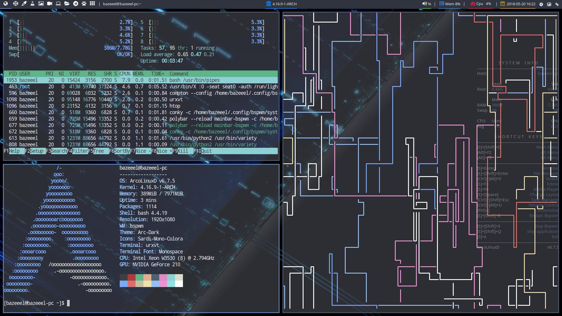 ArcoLinuxD 6.8