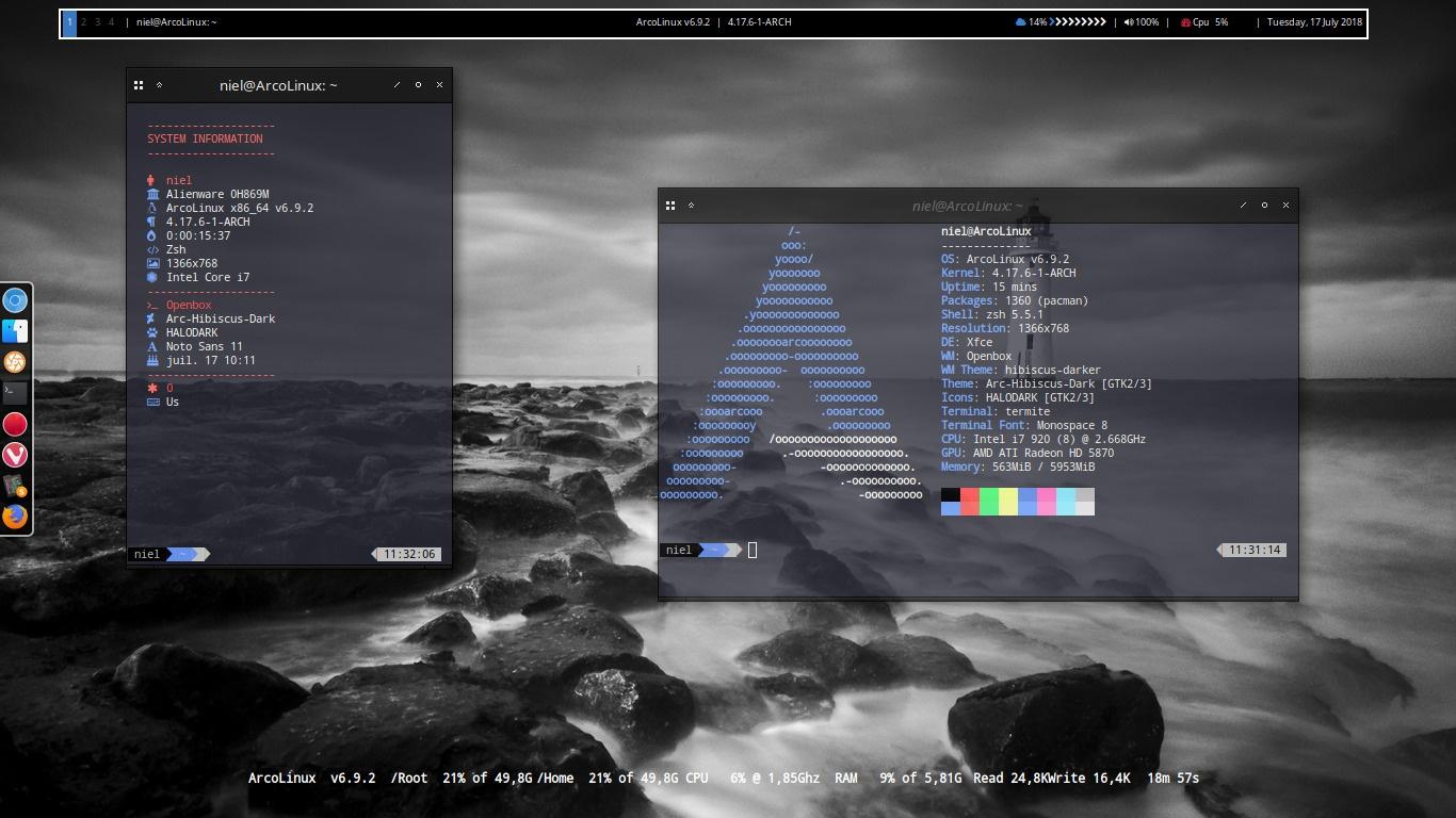 ArcoLinux -D -B 6.9