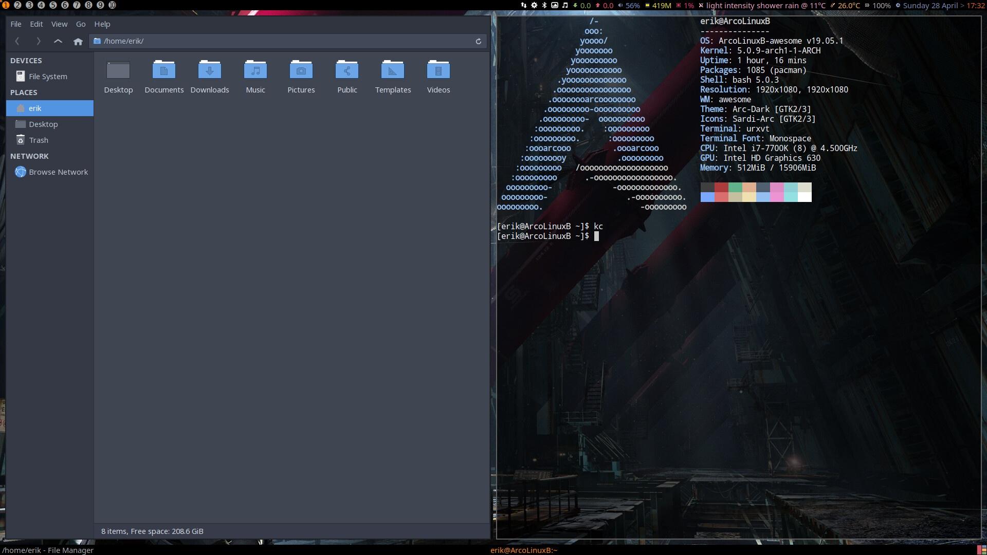 ArcoLinux -D -B 19.5