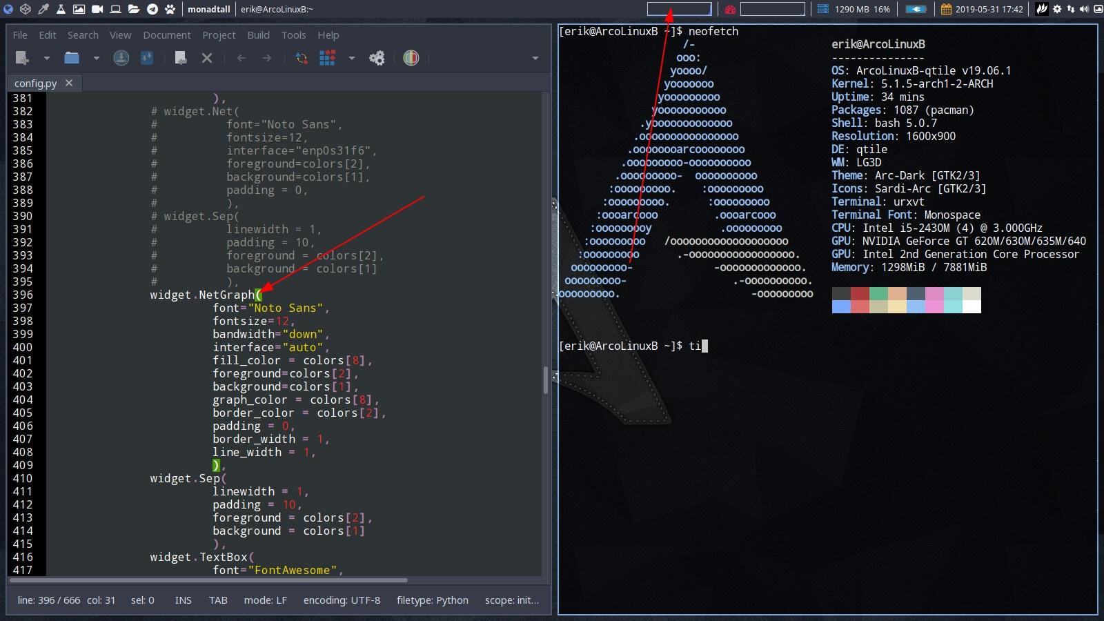 ArcoLinux -D -B 19.6