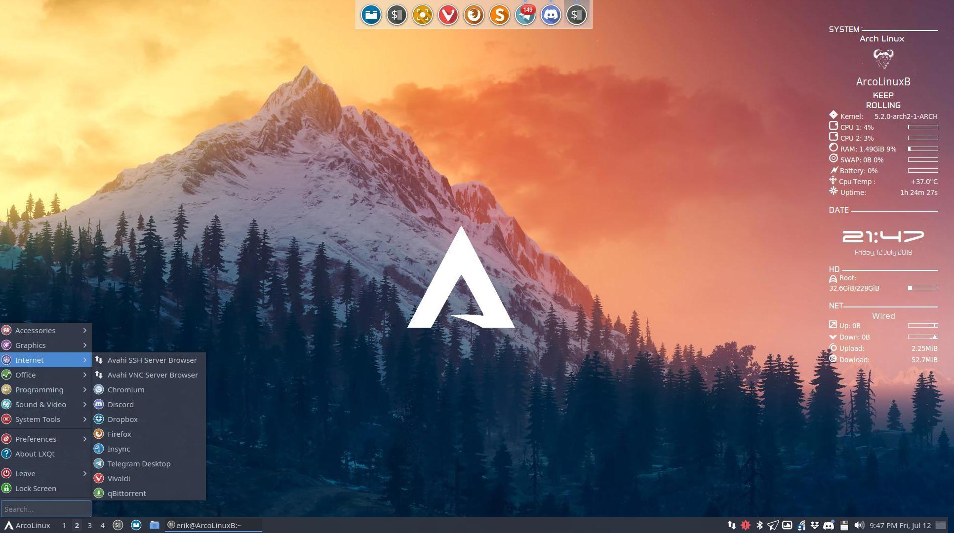 ArcoLinux releases a new desktop : LXQt