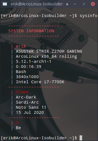 ArcoLinux Beta 21.05
